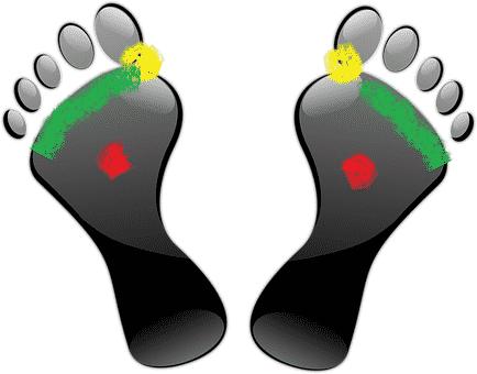 drukpunten voeten